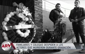 Familiares y colegas despiden a actores de Televisa fallecidos durante grabación