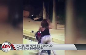 Man attacks his partner with fists and the woman surprises him with his defense