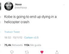 KOBE BRYANT - Strange tweet predicts its end