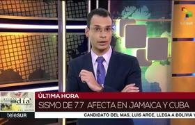Sismo de magnitud 7.7 grados sacude Cuba y Jamaica