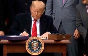 Donald Trump firma el T-MEC, el nuevo tratado entre México, Estados Unidos y Canadá
