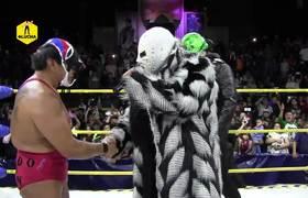 Dr. Wagner Jr. aparece por sorpresa para retar al Hijo del Santo en Lucha Libre Boom