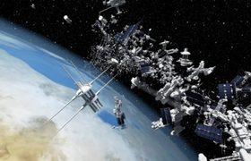 Satellite crash alert that would cause dangerous garbage rain