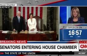Rick Santorum y Jennifer Granholm pelean por el discurso del Estado de la Unión de Trump