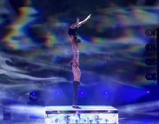 America's Got Talent: The Champions: Duo Destiny Delivers Sexy Acrobatics And UNBELIEVABLE Aerial -