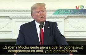 Coronavirus desaparecerá en abril: Donald Trump