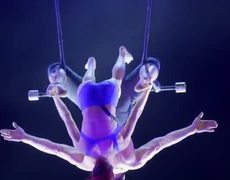 INTENSE! Duo Transcend Executes Risky Aerial While BLINDFOLDED - America's Got Talent: The Champions
