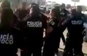 #VIDEO: Policía federal se enfrenta contra policía de Texcoco