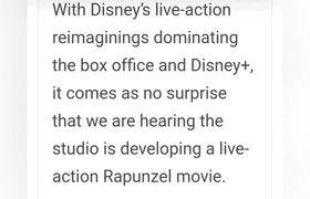 Se rumora que Disney trabaja en el live action de Rapunel #Tangled o #Enredados
