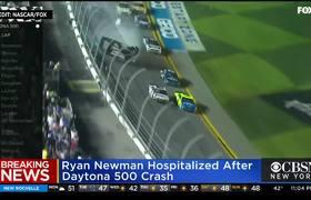 #RyanNewman hospitalized after terrifying crash at Daytona 500