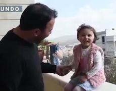 "We will laugh when the bomb falls ""; in the midst of bombing, the Syrian father teaches his daughter to laugh"