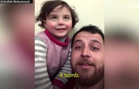 #OMG: Syrian father teaches daughter to cope with bombs through laughter