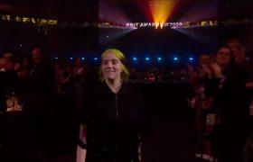 Billie Eilish wins International Female Solo Artist   The BRIT Awards 2020