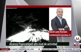 Alcanza Popocatépetl alto nivel de actividad