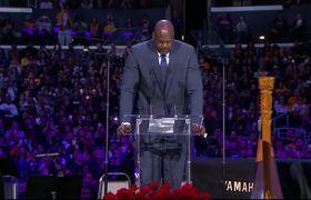 Shaquille O'Neal habla en el Memorial a Kobe Bryant y Gianna