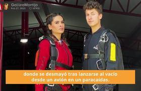 Galilea Montijo se desmaya tras lanzarse en paracaídas
