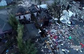 Nashville tornado: Drone footage shows incredible path of destruction and damage