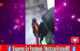 Explota bomba molotov - Le explota #bombamolotov a 2 mujeres en marcha de la #CDMX