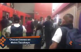 Choque de trenes en Tacubaya deja 41 lesionados y un muerto