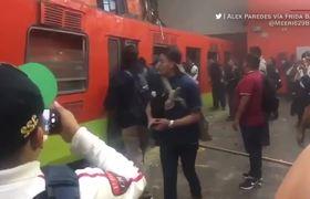 Choque de trenes en metro Tacubaya en Ciudad de México, al menos un muerto