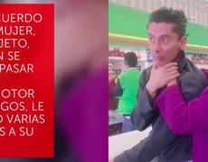 Woman confronts and beats man for taking photos of daughter in supermarket line