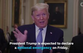 President Donald Trump To Declare National Emergency