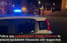 Coronavirus Lockdown: Police Patrol Streets of Rome to Enforce Total Ban