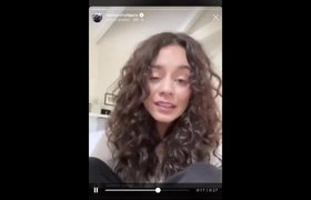Vanessa Hudgens comments about the coronavirus pandemic (Covid-19) on Instagram (FOOTAGE)