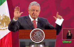 """""""En agravamiento de la crisis el escudo protector es el 'detente' (estampita religiosa)"""": AMLO"""