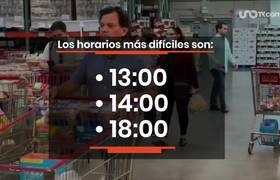 Horarios criticos para asistir al supermercado en Mexico