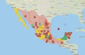 Diseñan mapa interactivo donde muestran casos del covid19