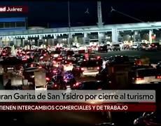 Tras anuncio de Donald Trump, hacen largas filas para cruzar la frontera