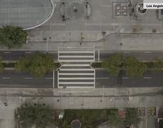 Drone video of L.A. as coronavirus shuts down the city