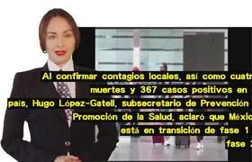 La OMS dijo que México entró en la fase 2; #AMLO anunciará medidas antidepidemia mañana