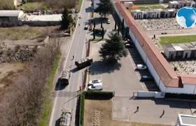 Italy: coffins of #coronavirus victims transported to crematorium