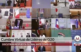 #AMLO participa en cumbre virtual de líderes del G20 por Coronavirus