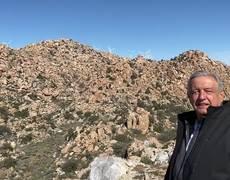 Mensaje desde La Rumorosa en Tecate, Baja California