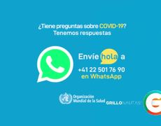 WHO launches WhatsApp and Facebook information service of # Covid19