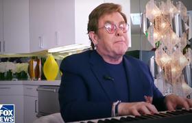 Elton John iHeart Living Room Concert Performance