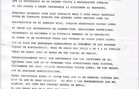 CARTA QUE LE ENVIO MADRE DE CHAPO GUZMAN AL PRESIDENTE LOPEZ OBRADOR EN SINALOA