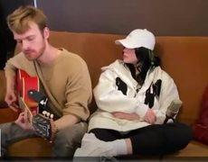 "Billie Eilish & Finneas ""bad guy"" | iHeart radio living room concert"