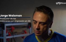 Con una impresora 3D un argentino fabrico una mascara contra coronavirus