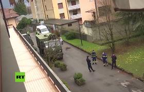 En Italia militares rusos desinfectan los hogares de ancianos