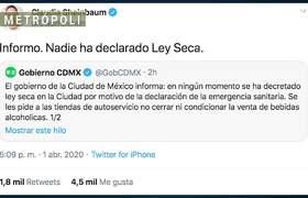 """Sheinbaum aclaro que no fue propuesta la """"Ley seca"""" en la CDMX"""