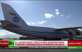 Coronavirus: Russian medical aid plane lands in New York