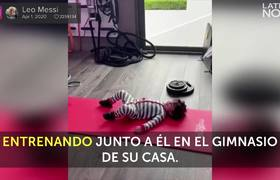 Leo Messi trains with his little Ciro in quarantine and squanders tenderness