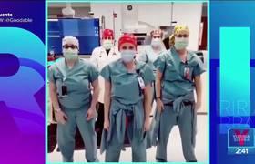 ¡Enfermeras bailan antes de ponerse a trabajar!