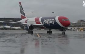 Patriots plane carrying critical N95 protective masks arrives in Boston