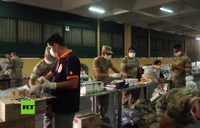 Covid19: Peru's Army gathers food kits for families in difficulties