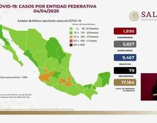 1,890 positive cases of coronavirus in Mexico